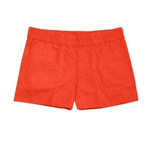 "J.Crew Flora Jacquard 3"" Boardwalk Pull On Shorts"